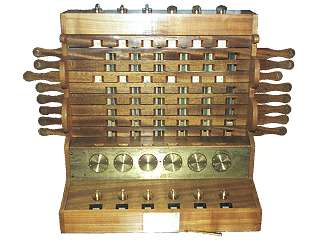 Schickard Calculator, 1623, Deutsches Museum München, Rekonstruktion. Foto: Clemens Weller